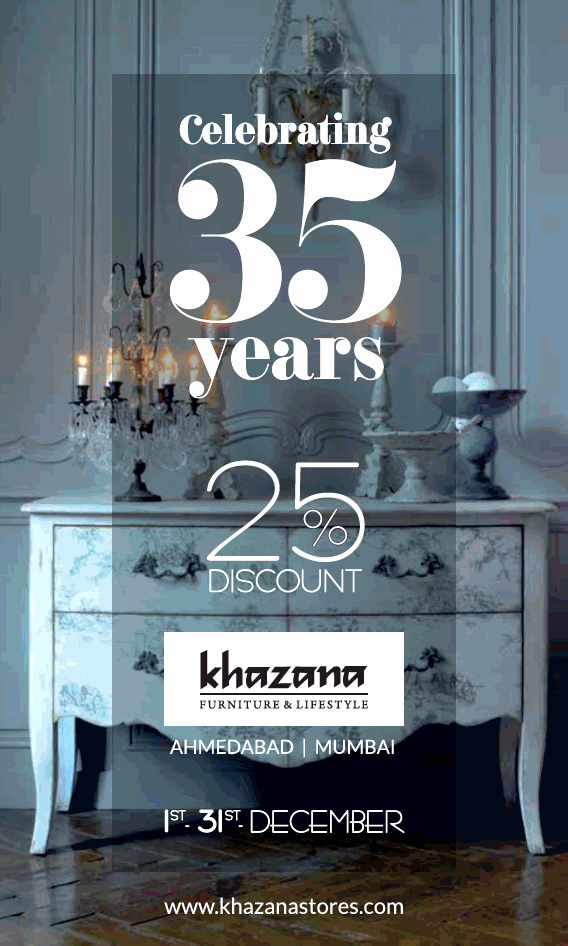Khazana Furniture Lifestyle Celebrating 35years 25 Discount Ad Advert Gallery