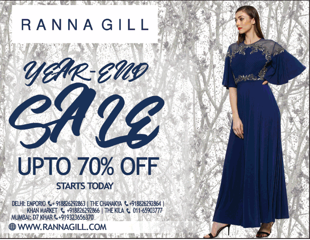 Ranna gill year end sale upto 70 off ad advert gallery for Furniture year end sale 2017