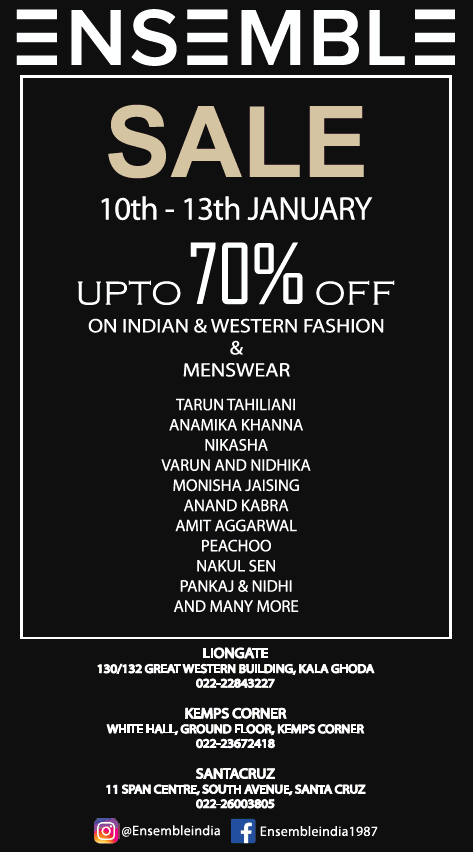 Ensemble Wear Sale 10Th 13Th January Upto 70% Off Ad
