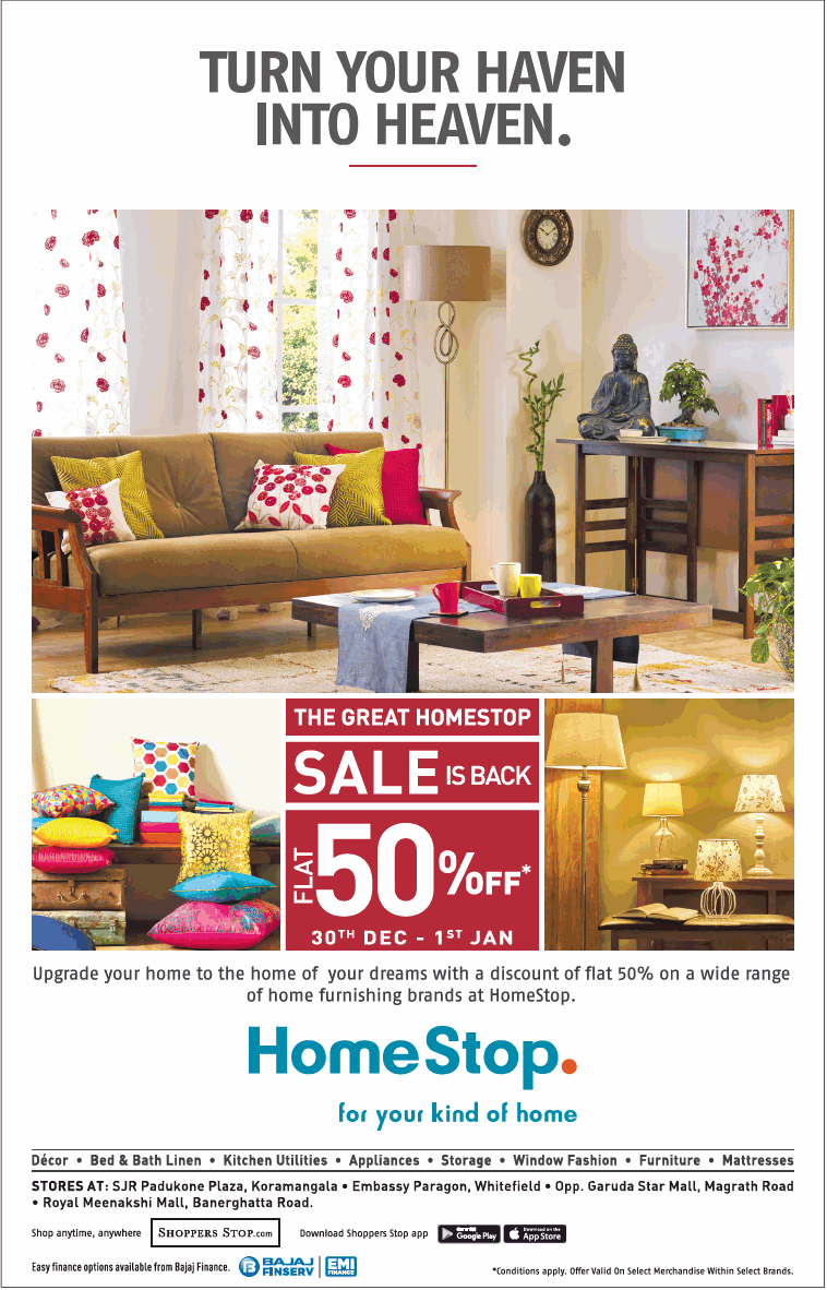 Home Stop Sale Is Back Flat 50 Off 30th Dec To 1st Jan Ad Advert Gallery