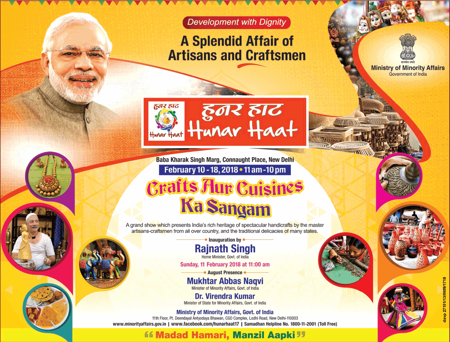 Hunar Haat A Splendid Affair Of Artisans And Craftsmen Crafts Aur Cuisines Ka Sangam Ad
