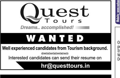 848db8ca1a Quest Tours Dreams Accomplished Wanted Ad - Advert Gallery