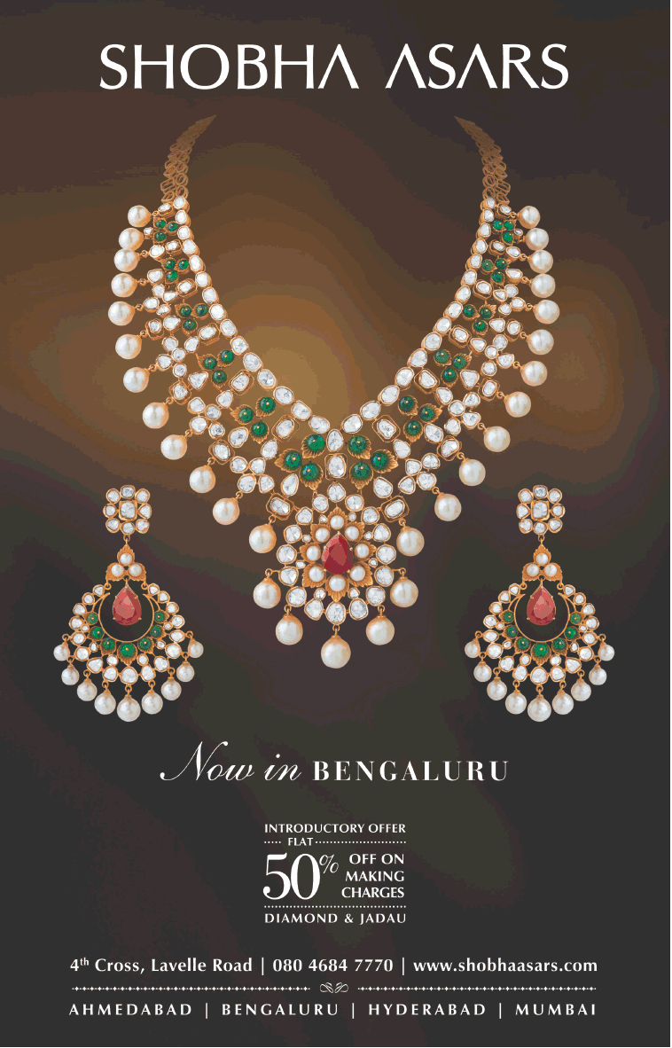 0d2b4b3f12acc Shobha Asars Jewellery 50% Off On Making Charges Ad - Advert Gallery