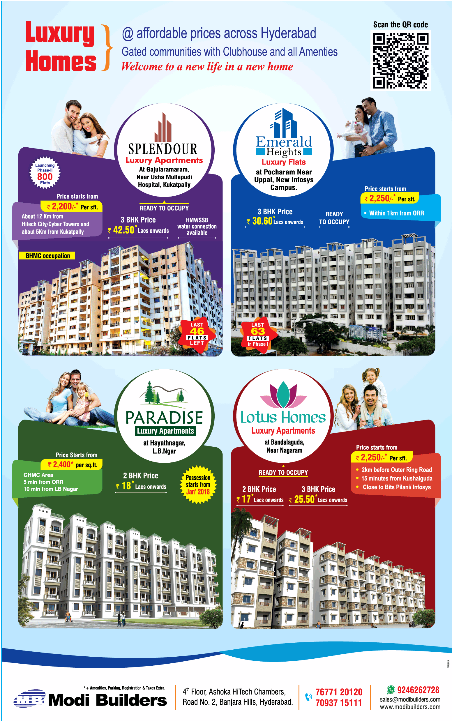 Modi Builders Luxury Homes At Affordable Prices Across Hyderabad Ad