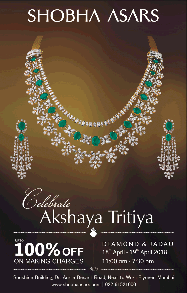 e807ea80a66c5 Shobha Asars Celebrate Akshaya Tritiya Offers Upto 100% Off On ...