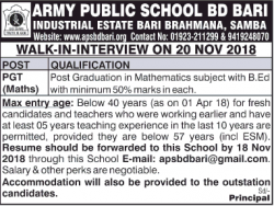 army-public-school-bd-bari-walk-in-interview-ad-times-of-india-chandigarh-09-11-2018.png