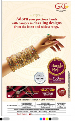 GRT Jewellers Bangle Mela Ad in Deccan Chronicle Hyderabad