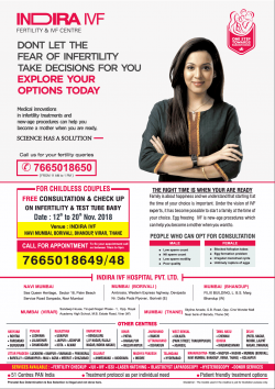 Indira Ivf Fertility And Ivf Centre Ad in Times of India Mumbai