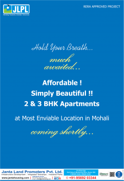 Janta Land Promoters Apartments at Mohali Ad