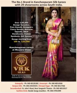 Kancheepuram Vrk Silks Ad in Deccan Chronicle Hyderabad