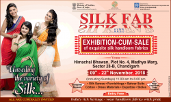 Silk Fab Exhibition Cum Sale of exquisite silk handloom fabrics Ad