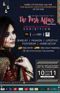 The Posh Affair Wedding And Lifestyle Exhibition Ad