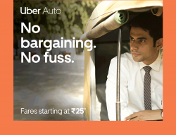 Uber Auto No Bargaining No Fuss Ad in Times of India Chennai