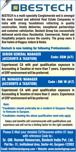 bestech-looking-for-senior-general-manager-ad-times-ascent-delhi-05-12-2018.png