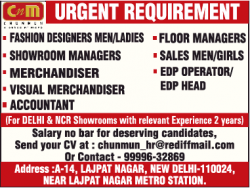 cnm-chunmun-urgent-requirement-fashion-designers-men-ladies-ad-times-ascent-delhi-05-12-2018.png