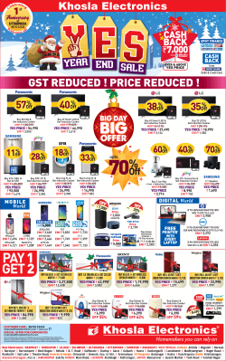 khosla-electronics-year-end-sale-big-day-big-offer-ad-calcutta-times-27-12-2018.png