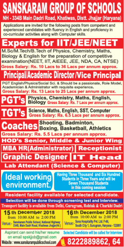sanskaram-group-of-schools-requires-principal-academic-director-ad-times-ascent-delhi-05-12-2018.png