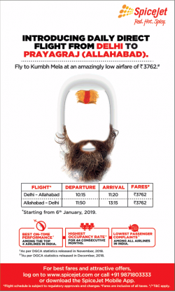spicejet-introducing-daily-direct-flight-from-delhi-to-prayagraj-allahabad-ad-times-of-india-delhi-27-12-2018.png