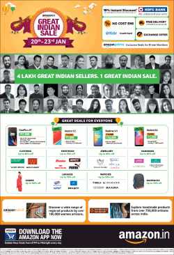 amazon-in-great-india-sale-20th-to-23rd-january-ad-times-of-india-mumbai-20-01-2019.png