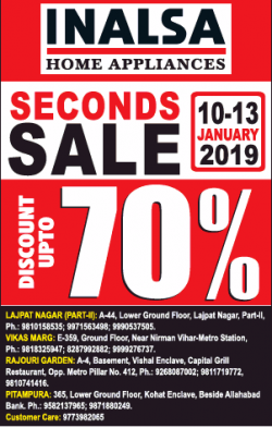 inalsa-home-appliances-seconds-sale-discount-upto-70%-ad-delhi-times-11-01-2019.png