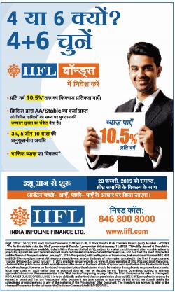 india-infoline-finance-ltd-byaaj-paiiye-10.5%-prathi-varsh-ad-dainik-jagran-delhi-22-01-2019.png