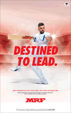 mrf-destined-to-lead-mrf-congratulates-team-india-on-their-historic-win-ad-times-of-india-mumbai-08-01-2019.png