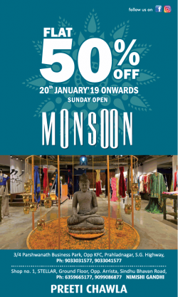 preeti-chawla-clothing-flat-50%-off-monsoon-ad-ahmedabad-times-22-01-2019.png