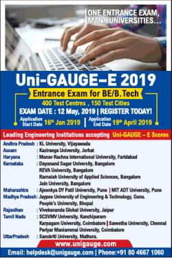 uni-gauge-3-2019-entrance-exam-for-be-b-tech-ad-ahmedabad-times-22-01-2019.png