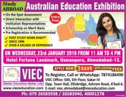 viec-study-abroad-australian-education-exhibition-ad-times-of-india-ahmedabad-22-01-2019.png