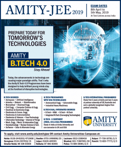 amity-jee-2019-btech-4.0-exam-dates-8th-april-to-5th-may-ad-times-of-india-delhi-19-02-2019.png