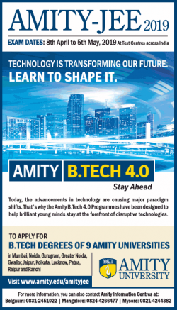 amity-university-jee-2019-exam-dates-8th-april-to-5th-may-ad-times-of-india-bangalore-29-01-2019.png