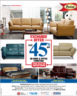 durian-exchange-offer-flat-45%-off-on-home-and-office-furniture-ad-bombay-times-16-02-2019.png