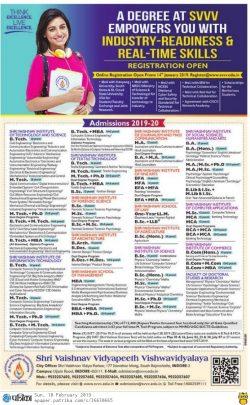 shri-vaishnav-vidyapeeth-vishwavidyalaya-admissions-2019-20-ad-rajasthan-patrika-bhopal-10-02-2019.jpg