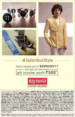 raymond-customer-tailoring-gift-voucher-worth-rs-500-ad-times-of-india-mumbai-23-02-2019.png