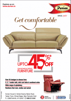 durian-furniture-get-comfortable-upto-45%-off-ad-bangalore-times-01-03-2019.png