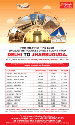 spicejet-for-the-first-time-direct-flight-from-delhi-to-jharsuguda-ad-times-of-india-delhi-07-03-2019.png
