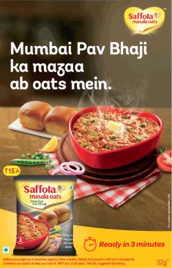 saffola-oats-mumbai-pav-bhaji-ka-mazaa-oats-mein-ad-times-of-india-mumbai-29-03-2019.png