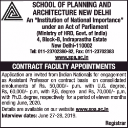 school-of-planning-and-architecture-new-delhi-faculty-appointment-ad-times-of-india-delhi-05-04-2019.png