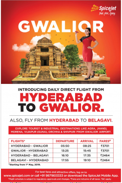 spicejet-introducing-daily-direct-flight-from-hyderabad-to-gwalior-ad-deccan-chronicle-hyderabad-04-04-2019