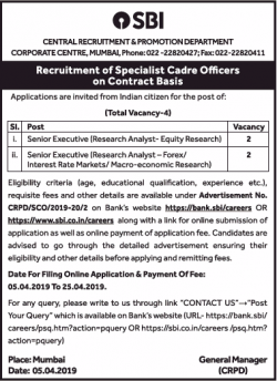state-bank-of-india-requires-senior-executive-ad-times-of-india-delhi-05-04-2019.png