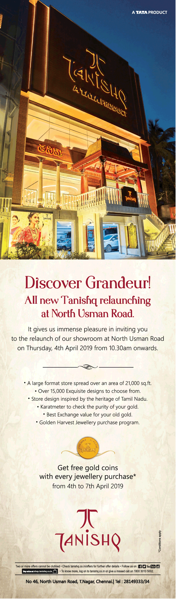 tanishq-jewellery-discover-granduer-all-new-tanishq-relaunching-at-north-usman-road-ad-times-of-india-chennai-04-04-2019.png