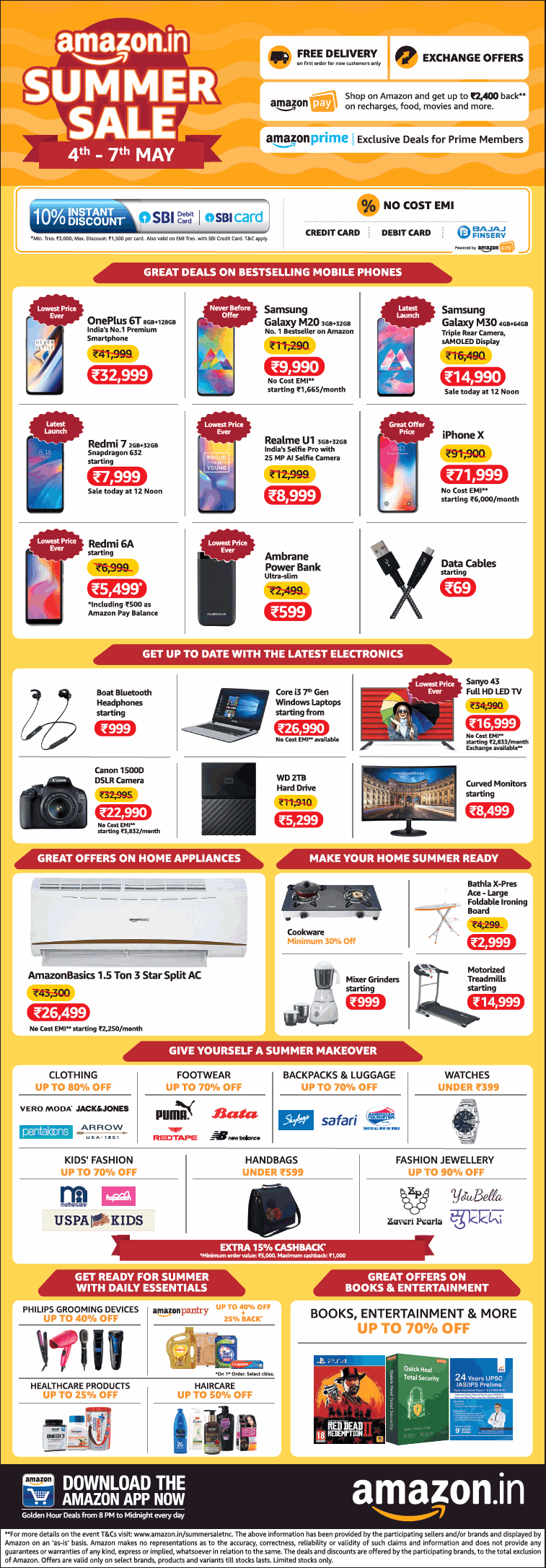amazon-in-summer-sale-4th-to-7th-may-ad-times-of-india-delhi-04-05-2019.png