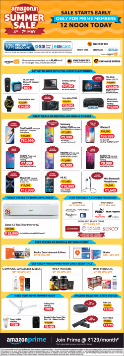 amazon-in-summer-sale-sale-starts-early-only-for-prime-members-ad-times-of-india-bangalore-03-05-2019.png