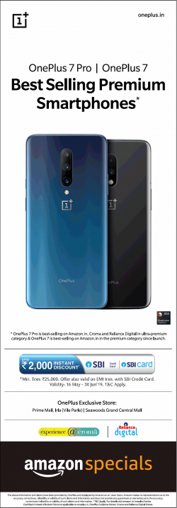 amazon-specials-one-plus-7-pro-best-sellimg-premium-phones-ad-times-of-india-delhi-11-06-2019.png