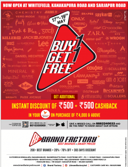 brand-factory-buy-1-get-1-free-instant-discount-of-rs-500-plus-rs-500-cashback-ad-times-of-india-bangalore-17-05-2019.png