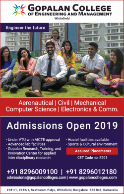 gopalan-college-of-engineering-and-management-admissions-open-2019-ad-bangalore-times-26-06-2019.png