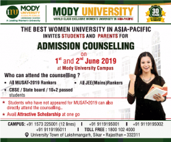 mody-university-the-best-women-university-in-asia-pacific-ad-times-of-india-delhi-31-05-2019.png