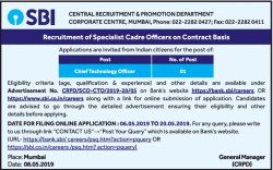 sbi-recruitment-of-specialist-cadre-offers-on-contract-basis-requires-chief-technology-offer-ad-times-ascent-mumbai-08-05-2019.png