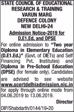 state-council-of-educational-research-and-training-varun-marg-defence-colony-new-delhi-admission-notice-ad-times-of-india-mumbai-04-06-2019.png