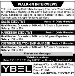 ybel-walk-in-interviews-requires-sales-executive-ad-sakal-pune-16-05-2019.jpg